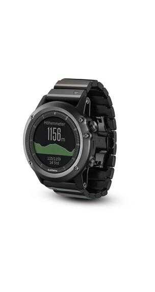 Garmin Garmin Fenix 3 GPS - Pulsómetro - Performer Bundle cristal de zafiro gris/negro